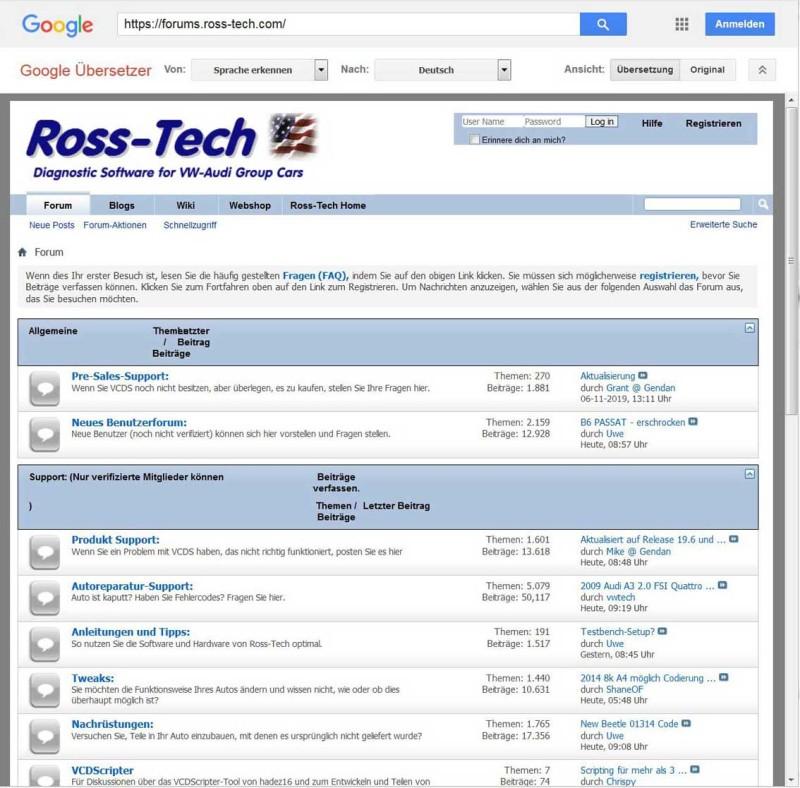 Ross-Tech Forum