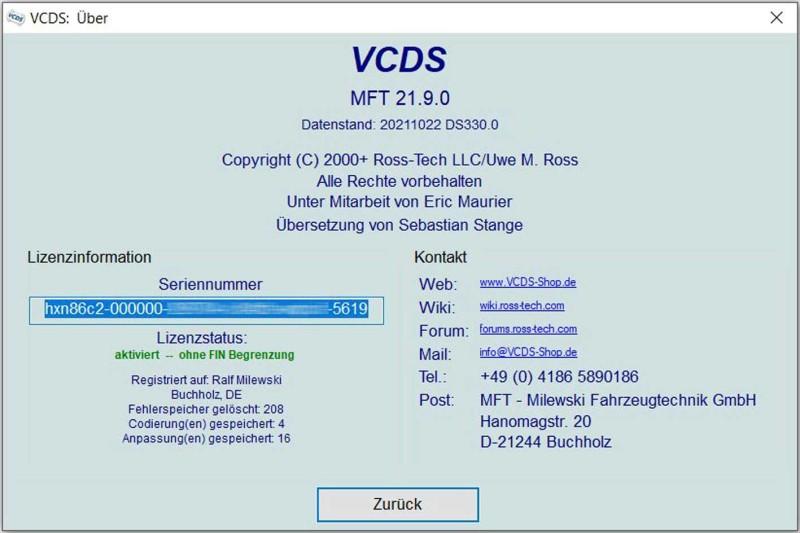 Ross-Tech VCDS | MFT - Fahrzeugtechnik Shop